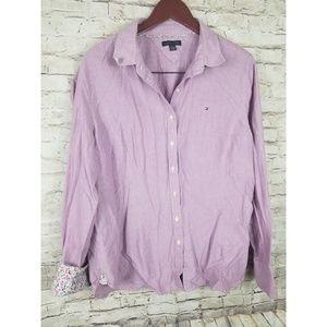 Tommy Hilfiger Womens Button Front Cotton Sz XXL